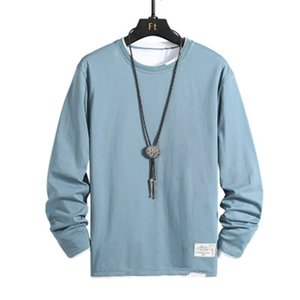 Man Loose Sweatshirts Fashion Trend Long Sleeve Round Neck Pullover Tops Designer Autumn Male Casual Solid Color Sweatshirts
