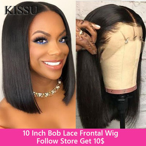 10 Inch Bob Wig Straight Bob Wig 13x4 Lace Front Human Hair Wigs Peruvian Hair Already Made Human Lace Frontal Wigs