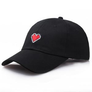 jplvs корейского стиль Вышитые бейсбола простого сладкий Колпачок Корейского стиль случайной вся-матч вышитой любовь шнуровки Бейсболка женская шляпа