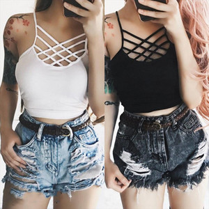 tank top Women Solid Bralette Bustier Lace Crop Top Bra Shirt Vest Seamless Underwear UK