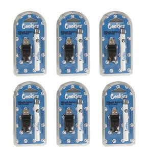 쿠키 510 스레드 vape 펜 배터리 충전식 vapes 배터리 전자 담배 스타터 키트 350mAh 조정 가능한 전압 기화기 펜 usb 충전기