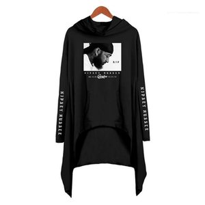 Lady Loose Fashion Clothing Nipsey Hussle Women Hoodies Designer Long Sleeve 3D Printed Dress USA Rapper