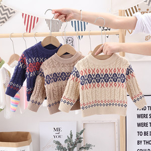 Baby Boys Knite Pullover 2020 New Toddler Round Collar Knitting Casual Sweater Autumn Winter Kids Knitted Long Sleeve Tops S640