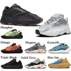 Adidas Stock x Kanye west Yeezy 700 Vanta Static Femmes Hommes des Chaussures de Course De Mode Phosphore Wave Runner 700 Solide Gris Designer Casual Formateurs Sneakers