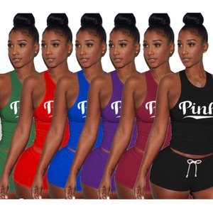 Women 2 piece set summer clothing plus size vest shorts running jogger suit sportswear leggings outfits crew neck pullover fashion club 0454