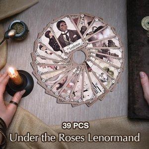 Lenormand Anglais Board Game Sous cadeau Divination Version Toy Lenormand cartes Cartes Roses Le destin Oracle Fate Tarot AjuAw de xjfshop