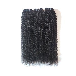 Brazilian virgin human hair weaves beauty 8-28inch kinky curly hair extensions Natural Black Peruvian Indian Remy hair weft Soft and Smooth