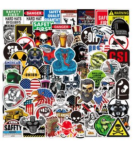 100 Pcs Cool Hard Hat Working Sticker Pack Graffiti for Water Bottle Laptop Luggage Car Bike Bicycle Travel Vinyl Waterproof Sticker Patches