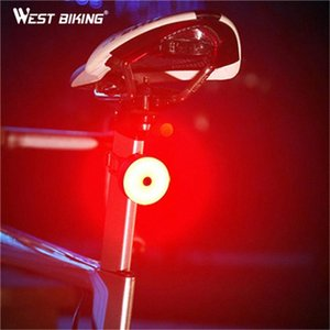 WEST BIKING Bicycle Light USB Charging Waterproof Bicycle Taillight Bike Rear Lamp Safety Warning Seatpost Lantern Bike Light PW7e#