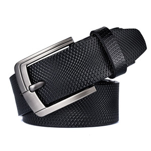 Belt Mens Leather Pin Buckle Pure Leather Waistband Wholesale Trendy and Casual Handmade Light Body Wide Belt Factory Direct Sales