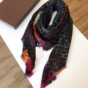 Designer de lã lenço Pashmina para as mulheres alta qualidade quadrados de luxo Inverno de seda xales coloridos lenços de pescoço anéis Lenços presente 140x140cm A118