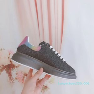 2020 Chaussures Noir Plate-forme de velours style Chaussures Chaussures Grande Sneakers Qualité Belle Chaussures Casual Box avec K06