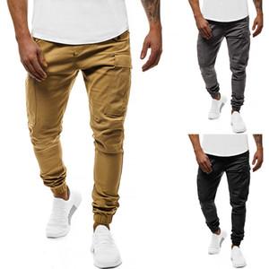 Европейского размера сплошной цвет мульти-мешок спецодежда бинтования ног случайные брюки мужские небольшой карман для ног дизайн случайные спортивные брюки мужские