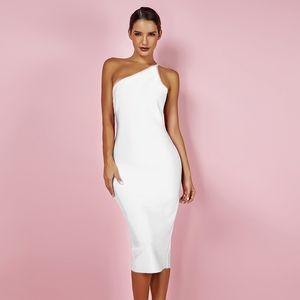 Deer Lady Deer Lady $ 14.9 ONLY !! Ausverkauf! Weiß-Verband-Kleid Bodycon Celebrity Club-Abend-Partei-Kleid