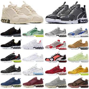 2020 nike Stussy Air Zoom Spiridon Kukini Cage 2 Fossil الرجال النساء احذية الجري ثلاثية بيضاء مشرقة الصبار رجل المدربين أحذية رياضية رياضية العدائين
