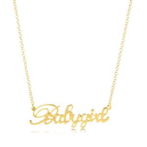 10pcs Liebes Babygirl Ligatures Baby-Anhänger-Halskette Kleines Babygirl Wort Claviclehalskette Schmuck für Kinder