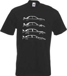 2019 Горячие продажи моды Evolution Scooby Impreza WRX P1 вдохновил вдохновило Evolution TShirt TShirt футболочку