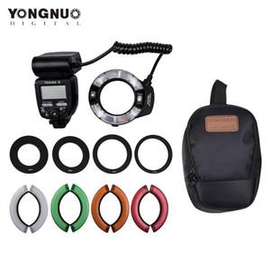 YONGNUO Light Kit Macro Ring flash con gran pantalla LCD Tamaño adaptador Anillos Temperatura de color Filtros zapata de montaje para