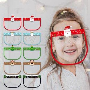 Hallowmas Noël sécurité Visière Cartoon Snowman citrouille transparent Couverture Facial Masque de protection anti-buée écran facial Masques RRA3450