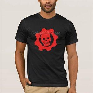 100% хлопок для Mans Gears Of War Vintage Symbol T-Shirt Round Neck Прохладный моды лета футболку Человека