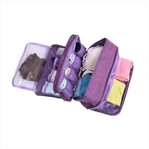 Portable Underwear Socks Bras Briefs Organizer 3 Compartments Travel Necessary Women Makeup Case Waterproof Travel Accessories