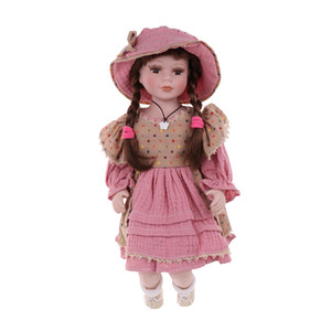 Great Christmas Gift - 40cm Porcelain Girl Doll Sitting Doll Collectible Ceramics Dolls with Adjustable Display Stands #2