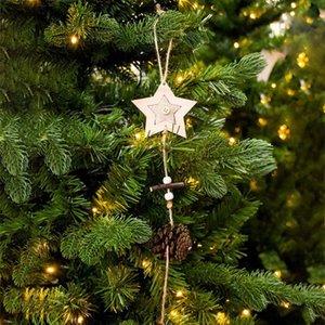 Natale in legno Pigna pendente della sfera creativa ornamento dell'albero di Natale della decorazione della casa del rifornimento Atmosfera Decoration