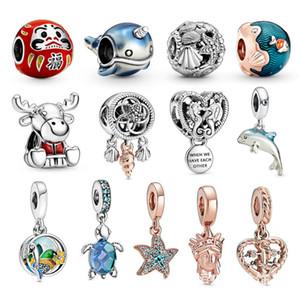 New Charms Bracelets DIY Jewelry Women Original Beads Jewelry Accessories ocean animals New cute DIY accessories Pendant