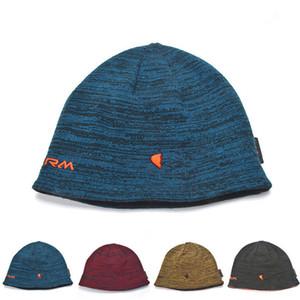 Unisex Beanie Geri Dönüşümlü Örme Şapka Kış Polar Kafatası Kap Bonnet Çift Taraflı Giyim Şapka Moda Beanies Trendy Tasarım Sıcak Kapaklar Kulak Muff