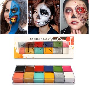 Halloween Tattoos Ultra-concentrated 12-color Oil Body Painting Drama Special Effect Make-up Facial Body Paint Pigment TSLM1