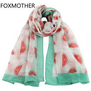 Mulheres New Enrole Moda For Fashion Foxmother Branca Xaile Scarf Festival fruto da melancia pxmSN bdehome