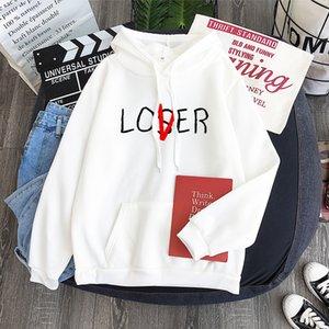 Inverno Hoodie Polar Universal Hoodie amante Perdedor Imprimir Hoodie Harajuku Estilo Vogue camisola com capuz Vintage