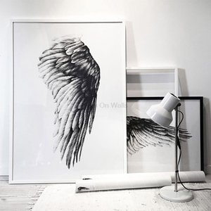 Angel Wings Poster Scandinavian Canvas Painting For Living Room Wall Picture Black White Print Nordic Art Home Decor