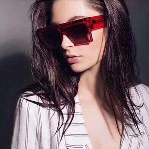 Flat top Sunglasses Men Bold Rectangle Narrow Shades Women Sun Glasses Female Brand Vintage Luxury Clear Sunglass UV400