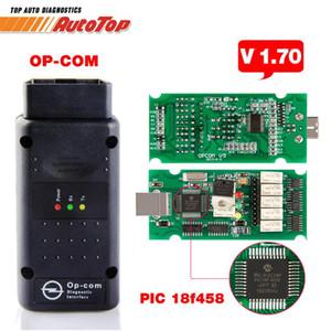 Лучший ОП COM-ODB 2 V1.70 OP COM-V5 Автосканер OPCOM для прошивки V 1.70 С PIC18F458 OPCOM для OBD2 сканер