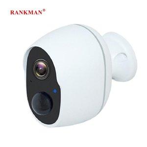 RANKMAN la cámara de WiFi de baja potencia de la batería Rechargeabl Seguridad Cámara de vigilancia inalámbrica IP a prueba de agua al aire libre de interior Car Shop