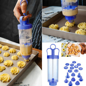 1 Set Cookie Press Gun Machine Cookie Making Cake Decoration Press Molds & Pastry Piping Nozzles Tool Biscuit Maker