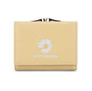 Small daisy short three fold Wallet Card Holders small fresh lady Student purse