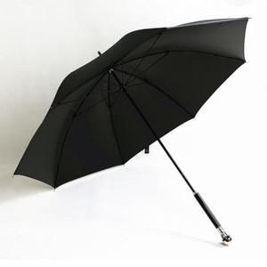104CM 5 مرات طلاء أسود المضادة للأشعة فوق البنفسجية 50+ مكافحة الرعد الألياف الزجاجية مظلة الجمجمة شبح هيكل عظمي مظلة عصا حيوان Y200324