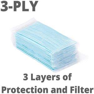 DHL Beruf 3-Ply PM2.5 Nonwoven Einweg-Elastic Mund weiche atmungsaktive Gesichtsmaske