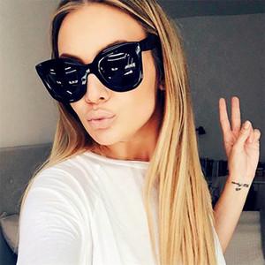 GUANGDU Feminino Mode Rétro design rond UV400 dégradé Lunettes de soleil Cat Eye lunettes de soleil vintage femmes lunettes