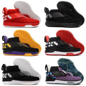 UNVRS Wallace giallo viola nero di pallacanestro scarpe per bambini Mens di superficie netta traspirante Sport Sneakers Trainers