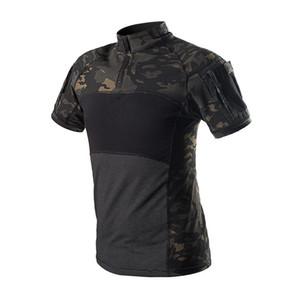 Ordu Tişört Erkek Short Sleeve Kamuflaj Taktik Gömlek Erkek SWAT Hunt Combat Multicam Kamuflaj Kısa Kollu T Shirt