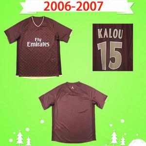 PSG jersey 2006 2007 camisa de futebol Retro 06 07 clássico paris vermelho afastado de futebol do vintage camisa # 25 Rothen # 15 KALOU # 9 Pauleta Maillot de pé