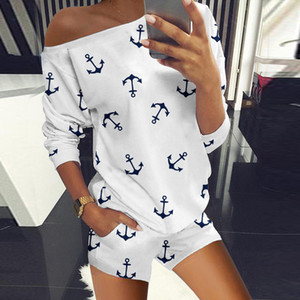 Summer Clothes For Women Birthday Outfits Casual Print Tshirt Tops and Biker Shorts Two Piece Suit Set Women's Tracksuit 058