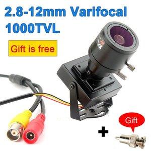 1000TVL Varifocal Lens Adapter Mini Camera Lens + RCA réglable de sécurité de surveillance CCTV caméra voiture Dépasser
