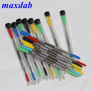 120 milímetros cera entalhar DAB aço inoxidável ferramentas cera dabber ferramenta com pontas de tubo de plástico e de silicone fumadores ferramentas de metal DAB DHL