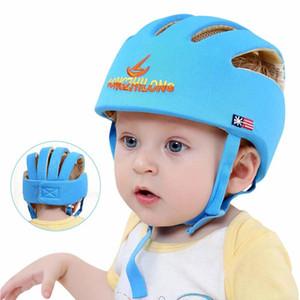 Boys Girls Summer Baby Hat Cotton Mesh Safety Baby Protective Helmet Learn To Walk Soft Adjustable Anti-Collision Children's Cap 200924