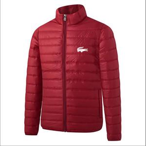 Neuer Baumwollmantel LACOSTE Herren Daunenjacke Entwerfer-Qualitäts-wattierte Jacke Marke Winter-Kleidung Luxus Halten Sie warmen Mantel Größe XXL-6XL