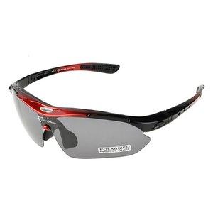 RockBros 5 Obiettivo polarizzato in bicicletta Eyewear miopia Telaio Sport esterni UV400 di vetro di Sun della bicicletta MTB Occhiali da sole bici R11Z